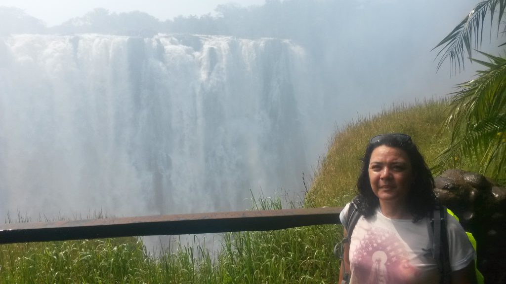 Ronell Smedley at Victoria Falls